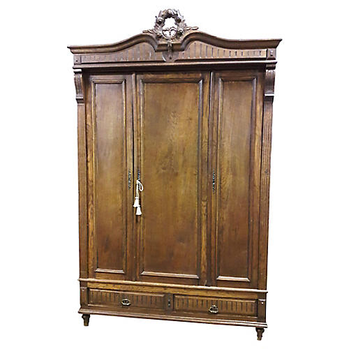 French Carved Empire Armoire