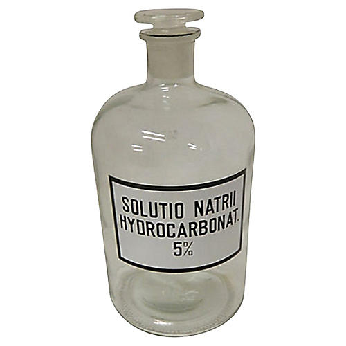 Antique French Apothecary Bottle, 1900