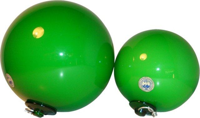 Holmegaard Swedish Glass Balls, Pair