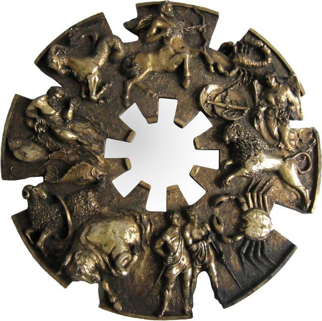 Sculptural Zodiac Mirror