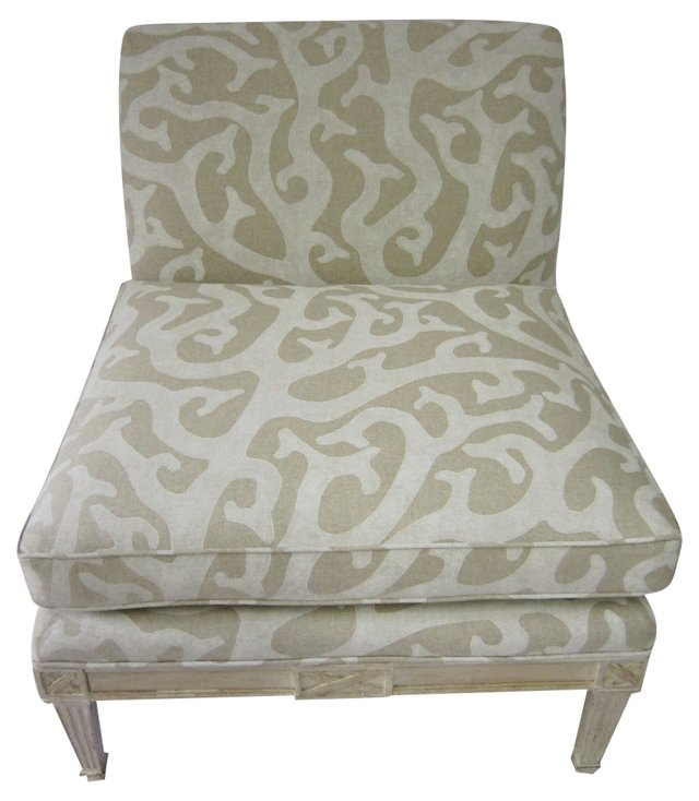 Regency-Style  Slipper  Chair