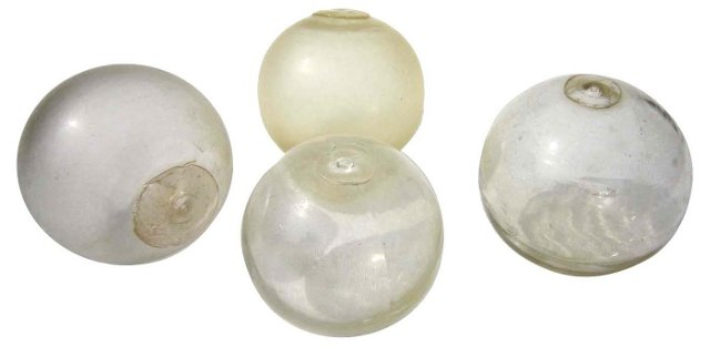 Champagne Fishing Floats, S/4