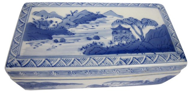 Blue Willow Chinese Box