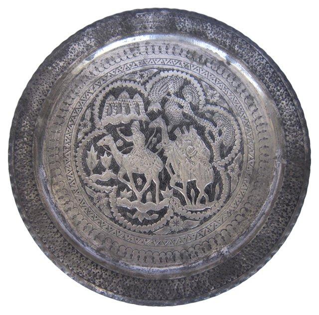 Persian Metalwork Wall Tray