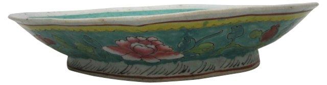 Peacock Rose Famille Bowl