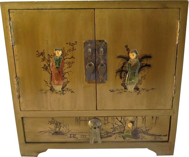 Chinese Lacquer Jewelry Chest