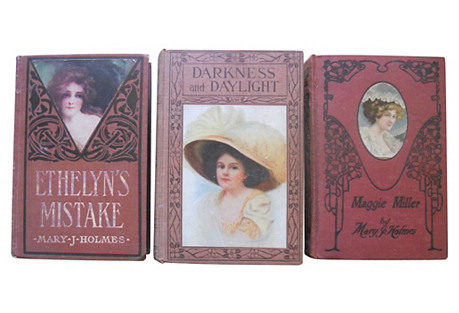 Decorative Books by Mary J. Holmes, S/3