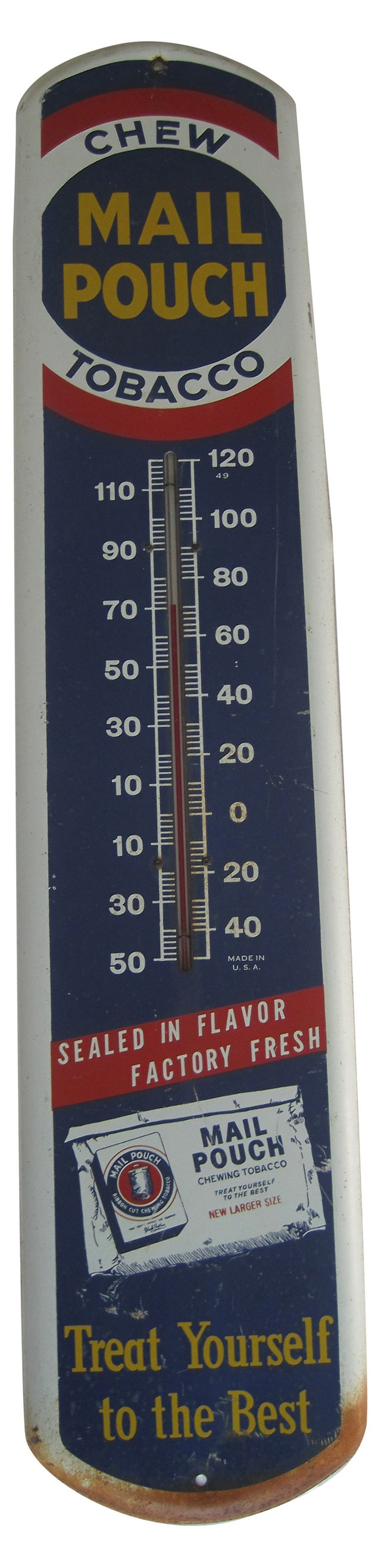 1940s Mail Pouch Thermometer Sign