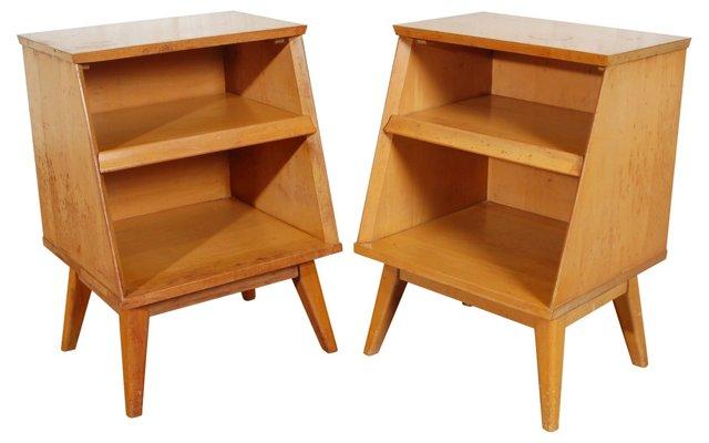 Paul McCobb-Style End Tables, Pair