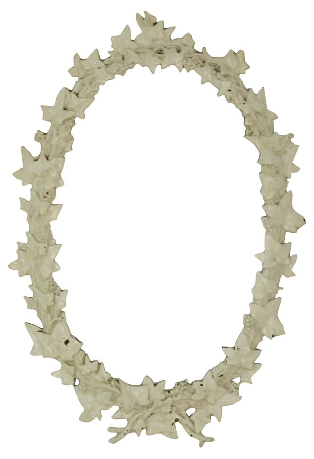 Cast-Iron Ivy Leaf Mirror