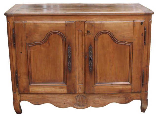 19th-C.  French Fruitwood Buffet