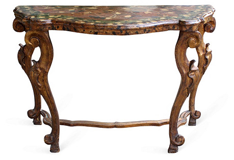 19th-C.  Italian Painted Console