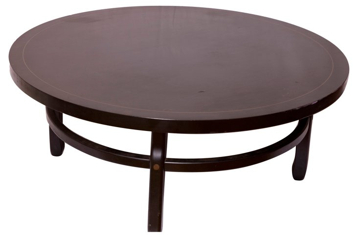Black Round Cocktail  Table