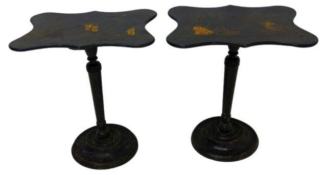 Chinoiserie Side Tables, Pair