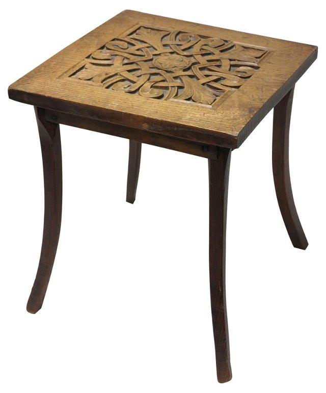 Arts & Crafts Oak Side Table, c1890