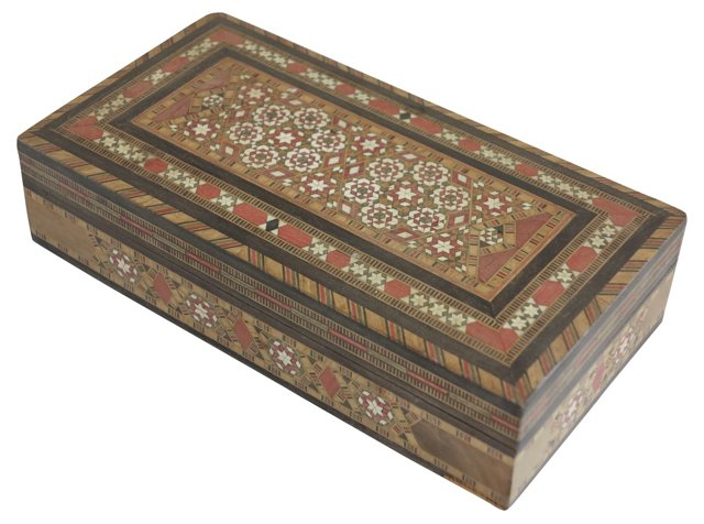 Moroccan Marquetry Box