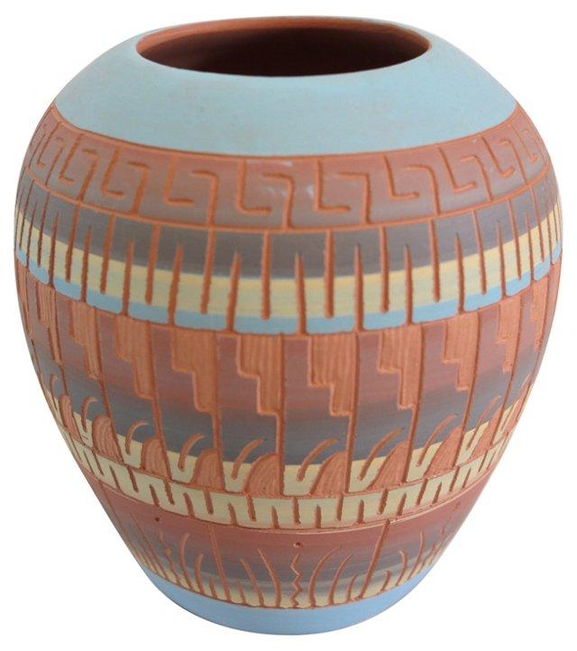 Navajo Pottery Vase by Hilda Whitegoat