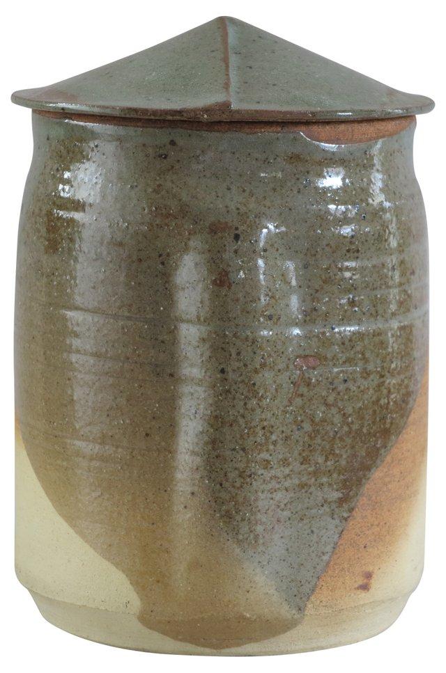 Lidded Pottery Jar by DW Jones