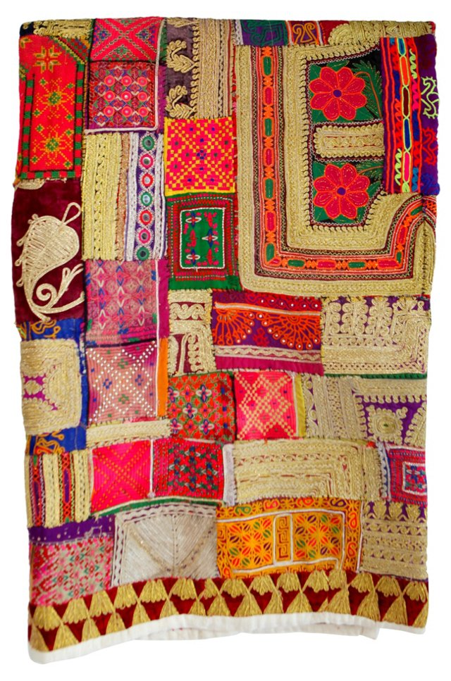 Nomad Embroidered Patchwork Throw