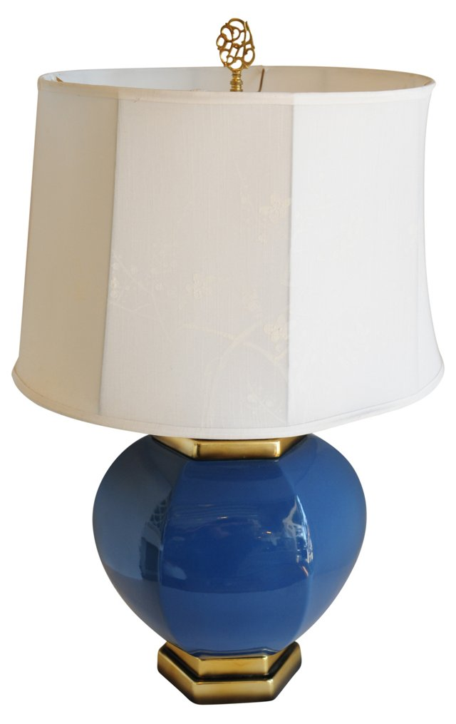 Blue & Gold Lamp