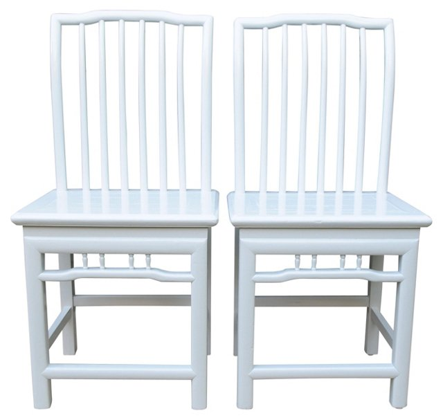 Laquered Wedding Chairs, Pair