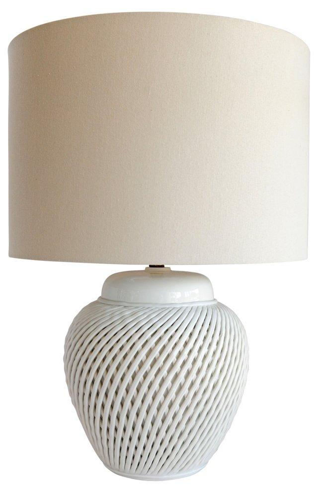 Ceramic Basket Weave Lamp