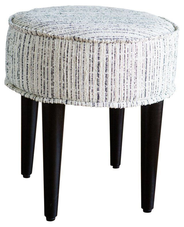 Midcentury Round Footstool