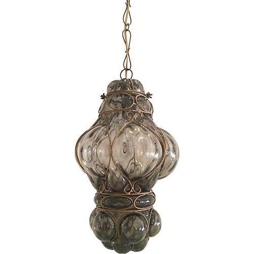 Handblown Glass Cage Pendant