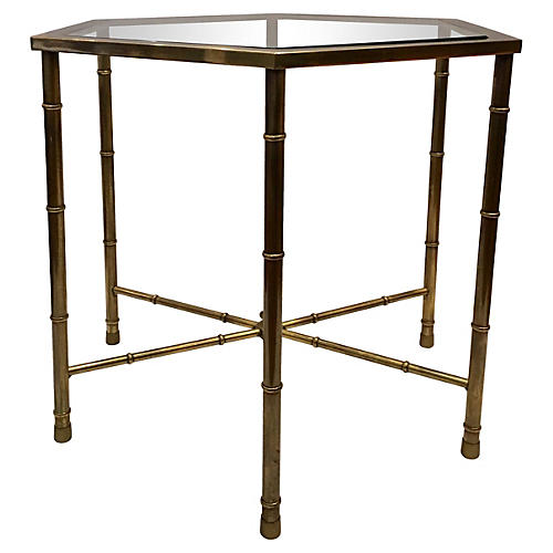 Brass Mastercraft Side Table