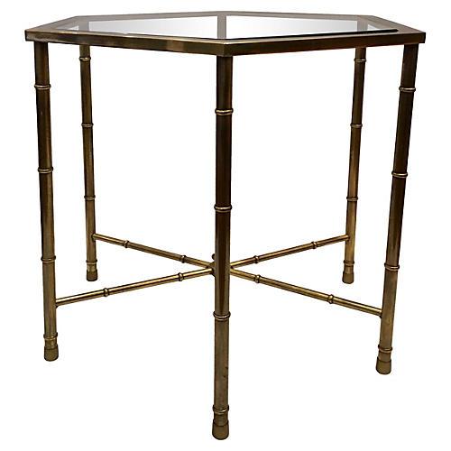 Brass Mastercraft Side Table