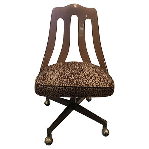 leopard office chair. lucite u0026 leopard desk chair office t