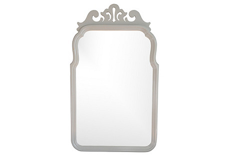 Gray Lacquered Mirror