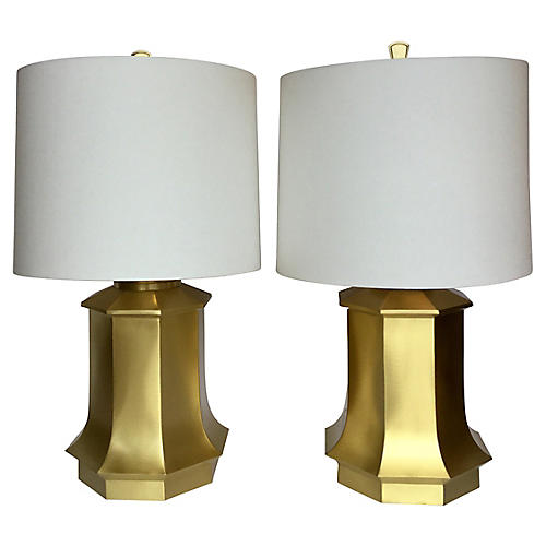 Brass Lamps, S/2