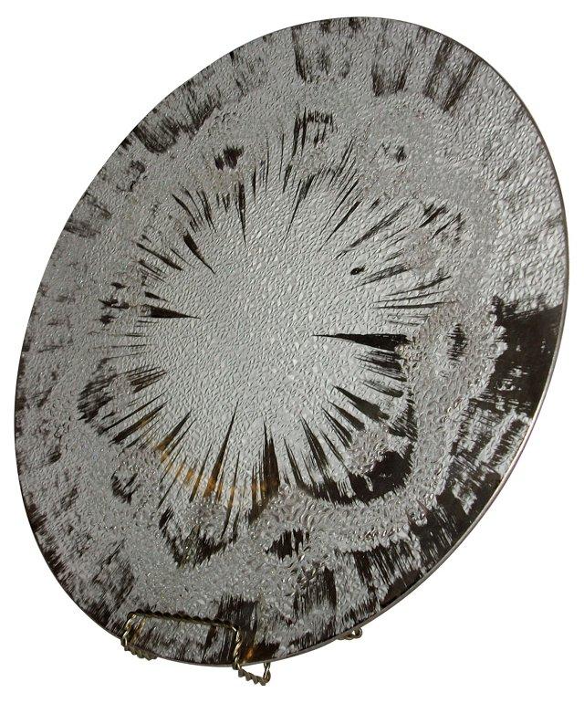 60s D Thorpe Atomic Explosion Platter