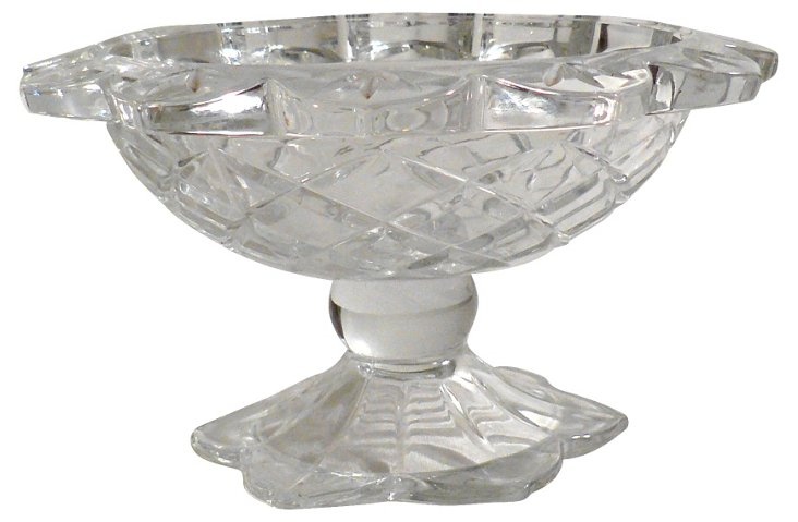 Scalloped  Glass Compote