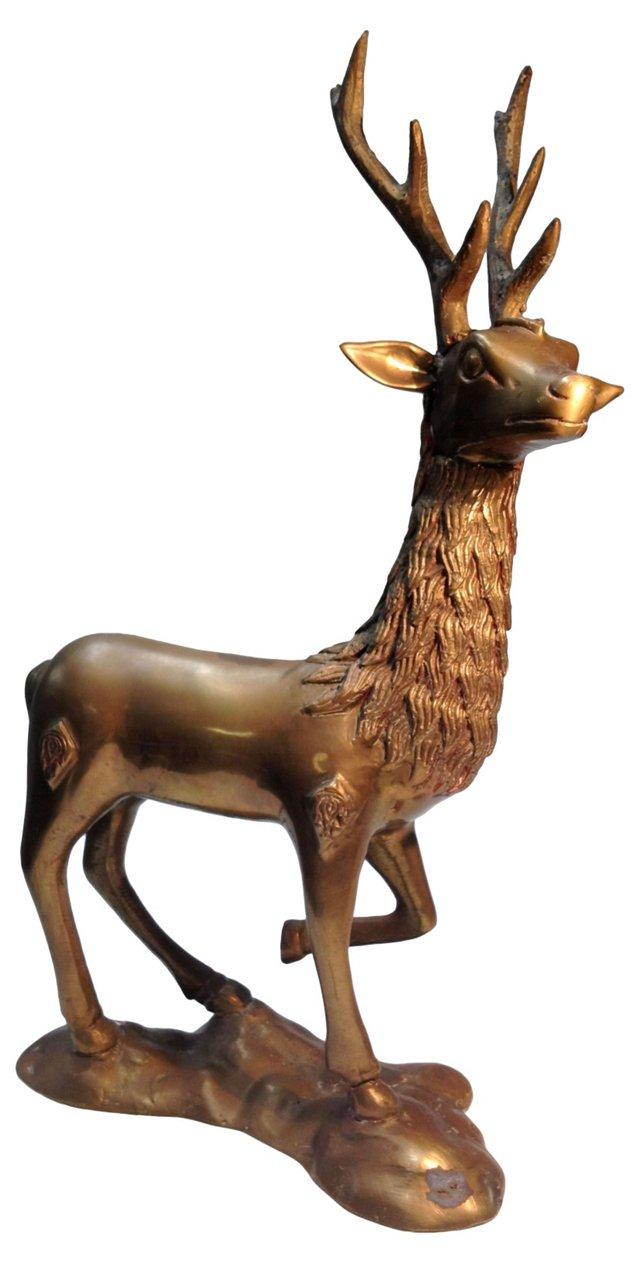 Tall Brass Elk