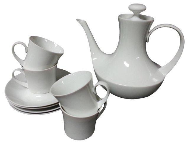 White Tea Set, Svc. for 4