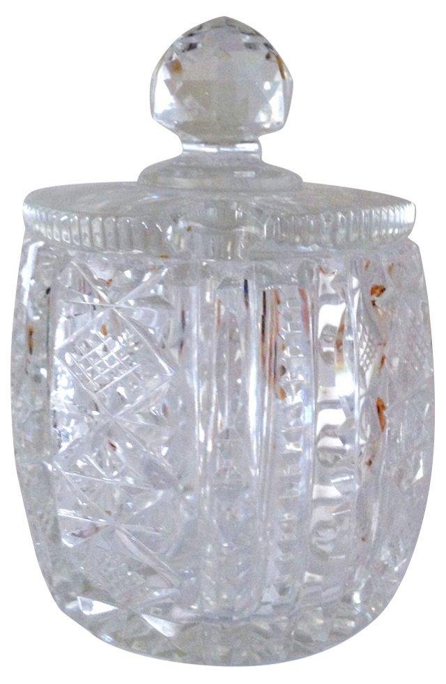Crystal Honey or Sugar Jar w/ Lid