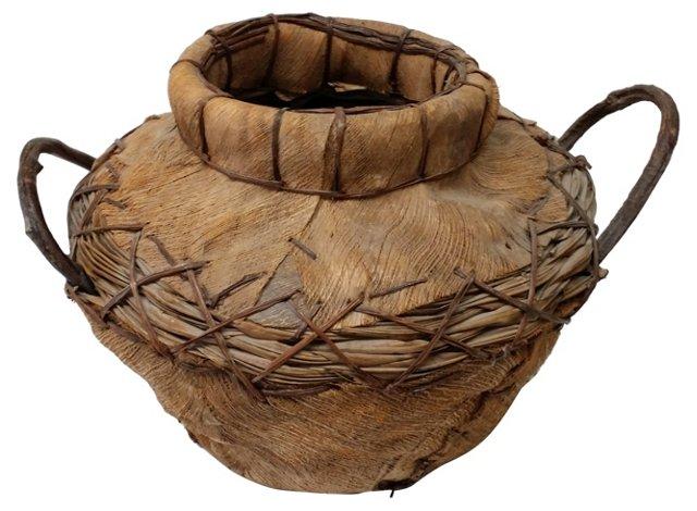 Indian Handmade Vine & Fiber Basket