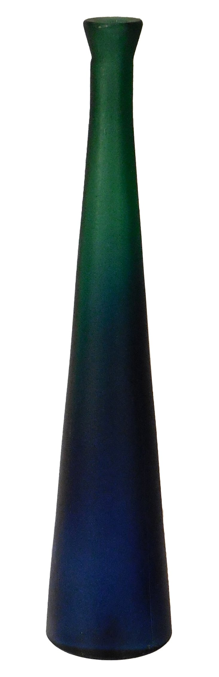 Blue Fades to Green Ombre Bottle