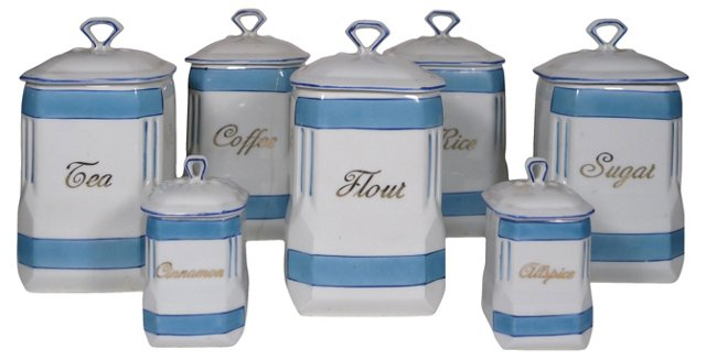 Antique Canister Set, S/7