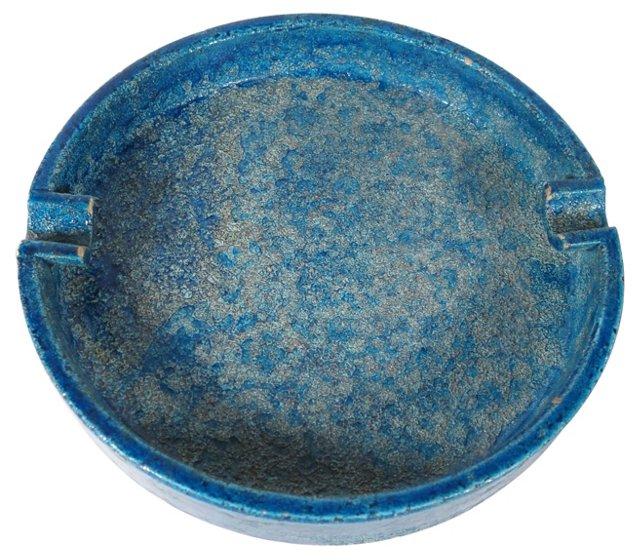Blue Italian Ashtray