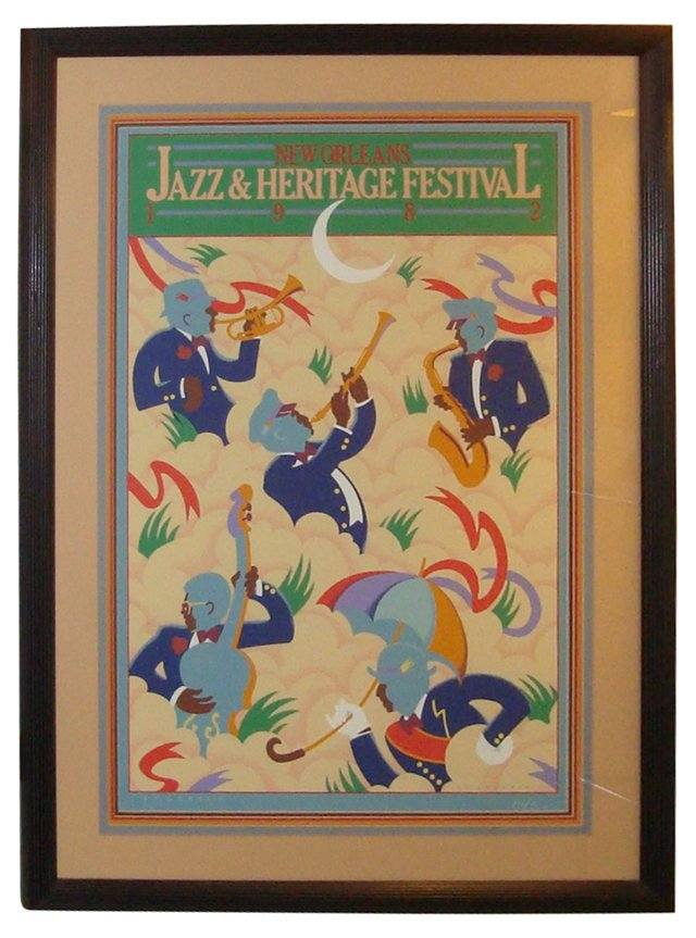 New Orleans Jazz Festival Poster, 1982