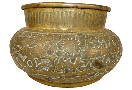 Antique Egyptian Cachepot