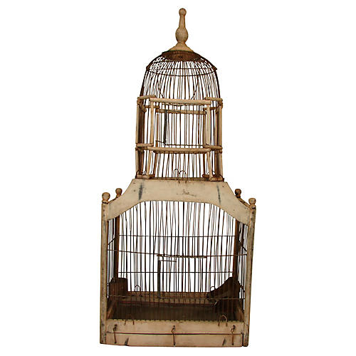 Architectural Dome-Top Birdcage
