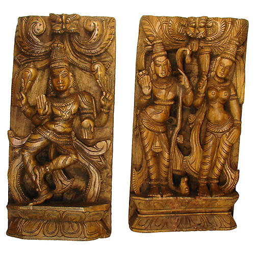 Indian Carvings, Pair