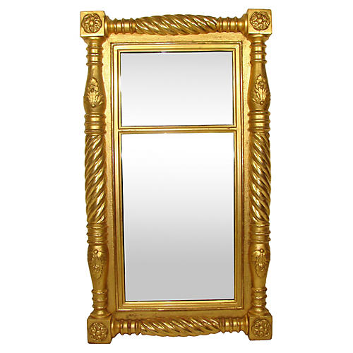 19th-C. English Pier Mirror