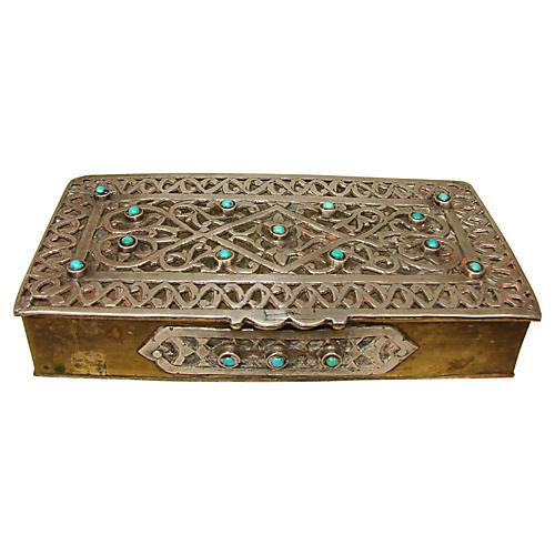 Tibetan Inlaid Box