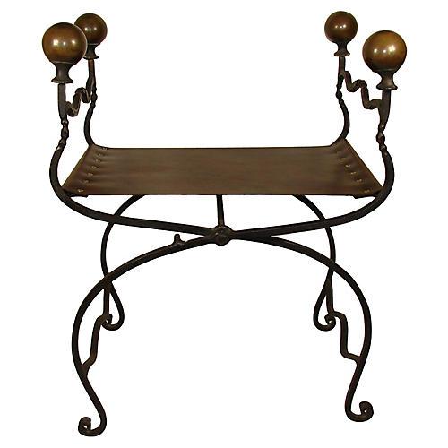 19th-C. Savonarola Chair