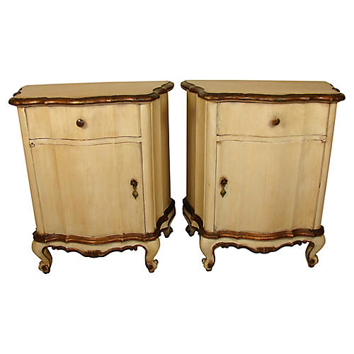 Italian Nightstands, Pair